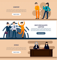 People in court horizontal banners vector