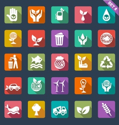 Ecology icon set - flat design vector image
