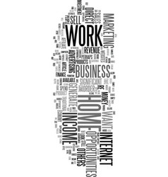 Work at home income opportunities text word cloud vector