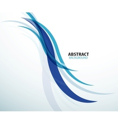 Abstract background blue technology wave vector image