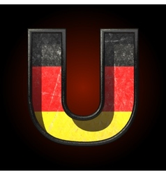 Germany cutted figure u vector