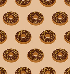 Chocolate donuts seamless pattern desserts food vector