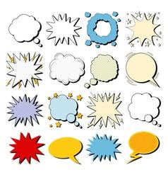 Big Set of Comics Bubbles in Pop Art Style vector image