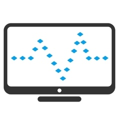 Monitor dotted pulse toolbar icon vector