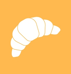 Baked croissant icon vector