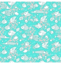 Background of underwater world Seamless pattern vector image