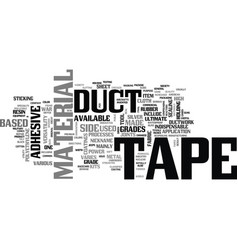 A guide to duct tape text word cloud concept vector