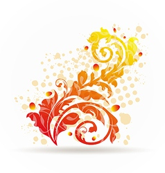 Autumnal ornamental colorful design elements vector image