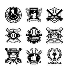 Baseball badges vector