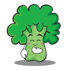 blush broccoli chracter cartoon style vector image