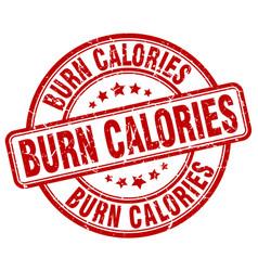 Burn calories vector