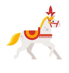 Circus white horse vector