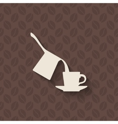 Coffee turk and cup on seamless background vector