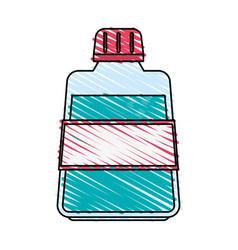 Color crayon stripe cartoon mouthwash for dental vector