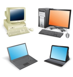 computer evolution vector image