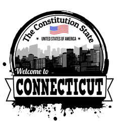 Connecticut stamp vector
