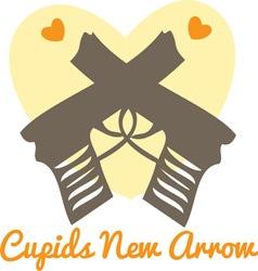 Cupids arrow vector