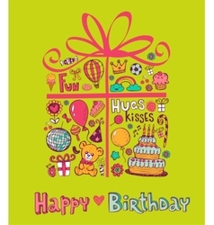 Cute birthday gift vector