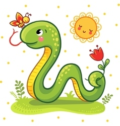 Cute Snake in vector image vector image