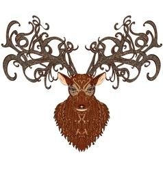 Deer color vector