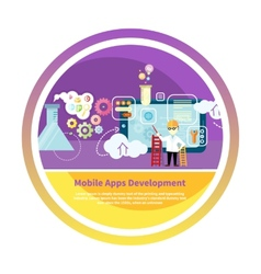 Development mobile apps vector