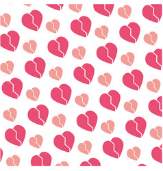 Heart and love background vector