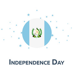 Independence day of guatemala patriotic banner vector