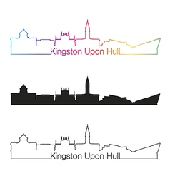 Kingston Upon Hull skyline linear style with vector image vector image