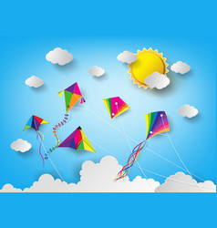 kite on sky vector image
