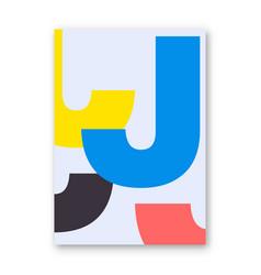letter j poster vector image vector image