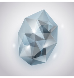 Light blue crystal vector image