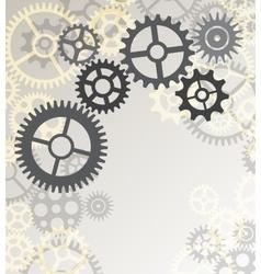 mechanism cogwheels vector image vector image