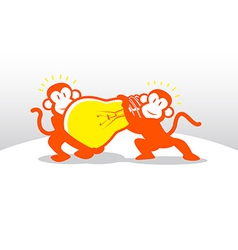 Monkey Idea Teamwork vector image vector image