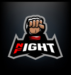 Night fight logo vector