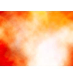 Orange mist vector image