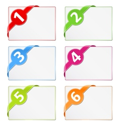 Paper cards with corner ribbons vector image vector image