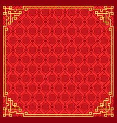 pattern on chinese new year vector image vector image