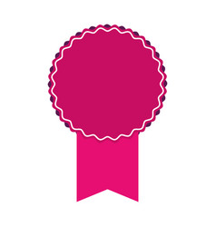 pink award ribbon vector image
