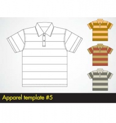 polo shirt template vector image vector image