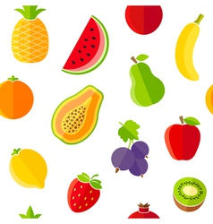 Seamless pattern with fresh organic fruits vector image vector image