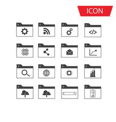 seo icon set and development icon set vector image