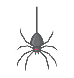 spider filled outline icon halloween and scary vector image vector image