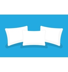 Three white pillows vector image vector image