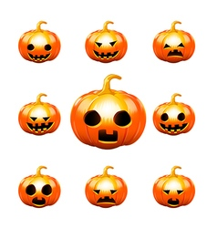 Happy halloween pumkin isolated on white vector