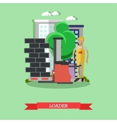 Construction loader concept vector