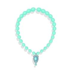 Necklace of precious stones in flat design vector