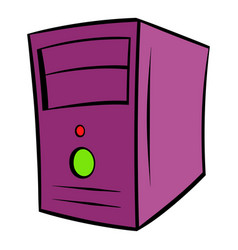 computer system unit icon cartoon vector image