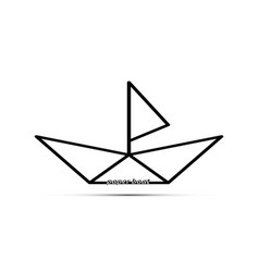Paper boat with a sail vector