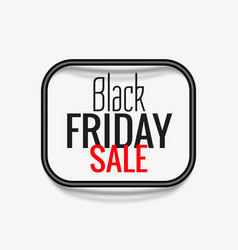 Stylish black friday sale poster with dark frame vector