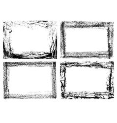Grunge frames set vector